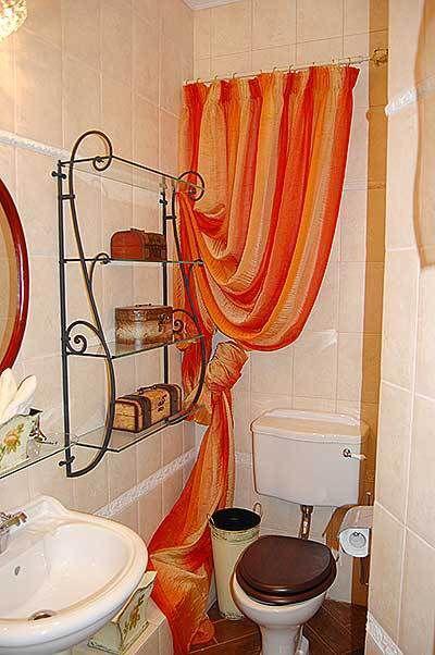 Штора для туалета своими руками