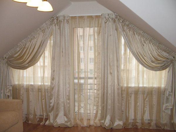 Идея штор для спальни